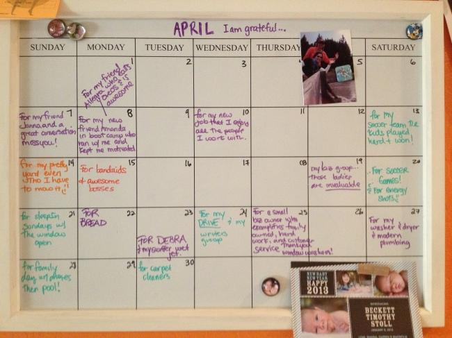 My Gratitude Calendar