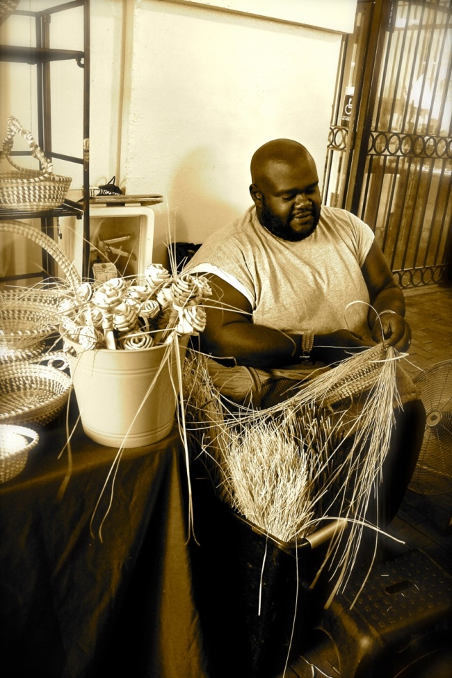 This is Corey. He makes Sweetgrass Baskets.
