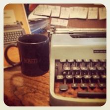 typewriter:mug