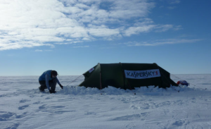 photo © kasperskylabs photo of tent during F. Aston's Solo Antarctic traverse